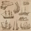 Boats - An hand drawn vector pack - 81255764