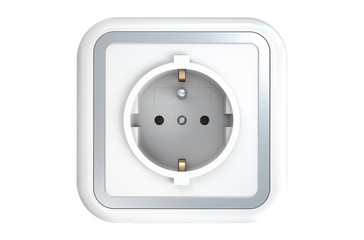 Power socket with ground pin