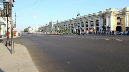 Nevsky prospekt - is the main street in Saint-Petersburg, Russia