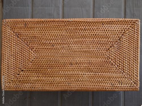 バリ島の籐籠の底
