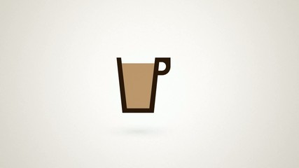 pouring a cup of coffee in an infinite loop