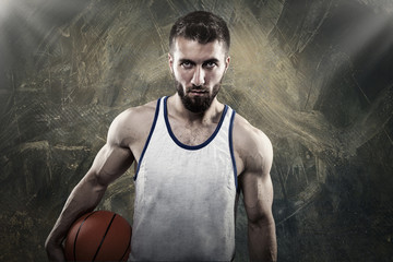 Attraktiver Basketballspieler mit Bart