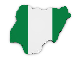 Nigeria Map Flag Shape