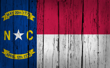 North Carolina State Flag Grunge Background