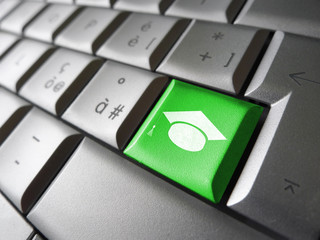 Online Learning Icon Key