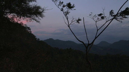 SIGIRIYA, SRI LANKA - FEBRUARY 2014: Timelapse view of Sigiriya nature. Sigiriya is an ancient palace located in the central Matale District near the town of Dambulla in the Central Province.