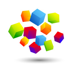 cubi, colori, sospesi