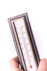 Thermometer indicates normal temperature, three-dimensional