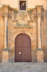Castuera, Badajoz, iglesia de la Magdalena, cruz de Alcántara