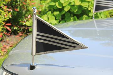 Silver grey hearse detail