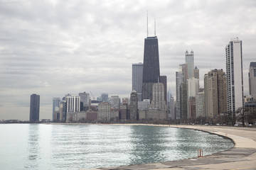 Chicago skyline from Michigan lakeshore