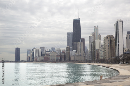 Papiers peints Grands Lacs Chicago skyline from Michigan lakeshore