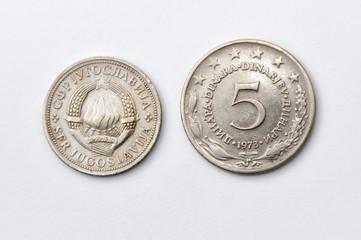 Five Yugoslav dinars