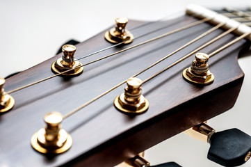 classical acoustic guitar closeup