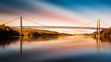Bear Mountain Bridge after sunset