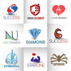 Corporate vector logo template set.