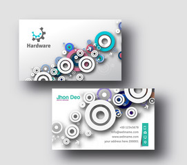 Professional Business Card Vector Template.