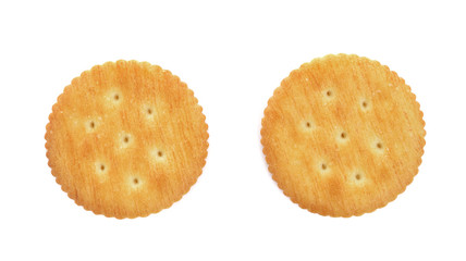Crackers isolated on white
