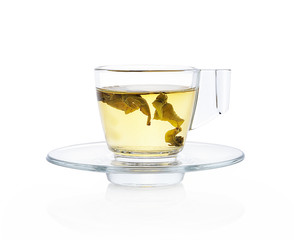 Hot tea isolated white