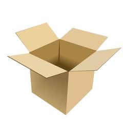 Realistic illustration of box