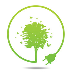 Tree  Green ecology friendly .
