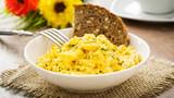 Rührei mit Brot - scrambled eggs and bread