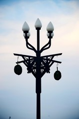 street light against the blue sky