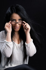Cute Brunette With Glasses