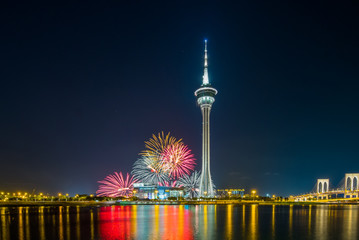 firework show in Macao