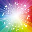 虹色の背景