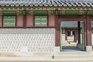 Korean style palace in Gyeongbokgung