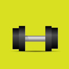 dumbbell sport weights flat icon vector