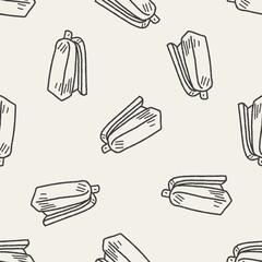 stapler doodle seamless pattern background