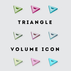 Icon Volume Pack Triangle