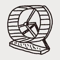 Pet exercise wheel doodle