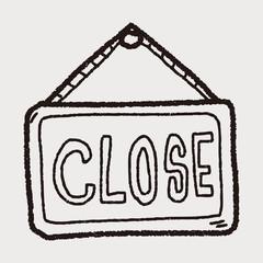 close banner doodle