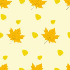 autumn yellow leaves pattern vector illustration