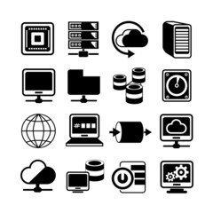 server and data storage icons