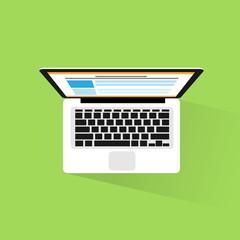 laptop computer icon flat design vector