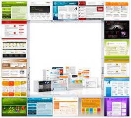 Webdesign, Templates, Vorlagen, Website, Werbung, Webtemplates