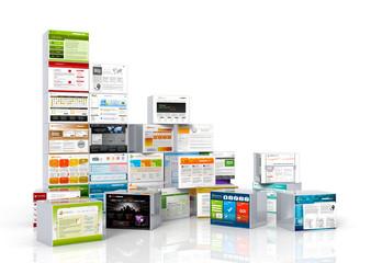 Webdesign, Templates, Vorlagen, Baukasten, Homepage, Website, 3D