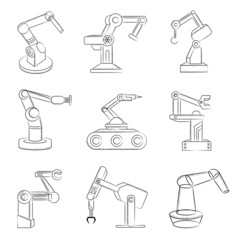 robotic hand icons