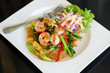 vermicelli fried with spicy seafood