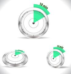 10 min timers, ten minutes alarm - vector eps10