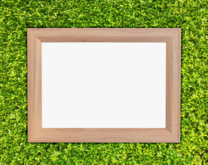 photo frame on green ivy