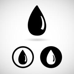 Vector water drop, vector illustration