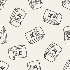 doodle pet food seamless pattern background