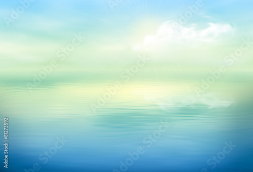 Water Vector Background Calm Clear - 81273592