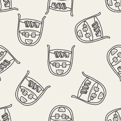 afternoon tea doodle seamless pattern background