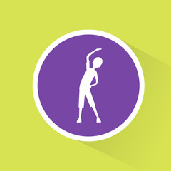 sport fitness man exercise workout flat icon